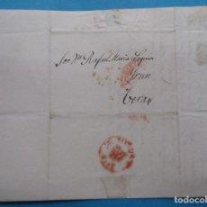 Sellos: CARTA PREFILATÉLICA. 1846. VERA, NAVARRA. IRÚN, VIZCAYA.. Lote 243797360