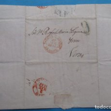 Sellos: CARTA PREFILATÉLICA. 1844. VERA, NAVARRA. IRÚN, VIZCAYA, ZARAGOZA, ARAGÓN.. Lote 243797875