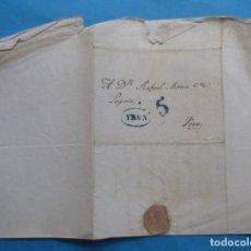 Selos: CARTA PREFILATÉLICA. 1841. VERA, NAVARRA. IRÚN, VIZCAYA.. Lote 243798845