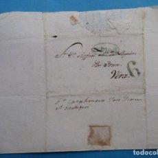 Sellos: CARTA PREFILATÉLICA. 1841. VERA, PAMPLONA, NAVARRA. IRÚN, VIZCAYA.. Lote 243800025