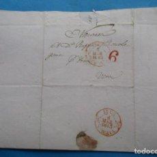 Sellos: CARTA PREFILATÉLICA. 1843. VERA, NAVARRA. IRÚN, VIZCAYA.. Lote 243800310