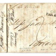Sellos: 1822 CARTA PREFILATELIA HABANA, CUBA A FRANCIA. CORREO MARÍTIMO. PAQUEBOTES FRANCESES. Lote 244634975