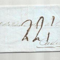 Sellos: CIRCULADA Y ESCRITA 1836 DE MADRID A CADIZ CON FECHADOR DE LLEGADA. Lote 245646110