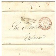 Sellos: 1854 CARTA PREFILATELIA LÉRIDA / LLEIDA A TALARN. FRANQUICIA PRESIDENTE DIUTACIÓN.. Lote 247000430