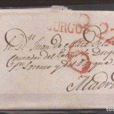 Sellos: 1837 PREFILATELIA CARTA MANUSCRITA A MADRID DESDE BURGOS. Lote 250319710