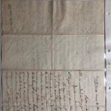 Timbres: CARTA MANUSCRITA DEL AÑO 1837. Lote 253324110