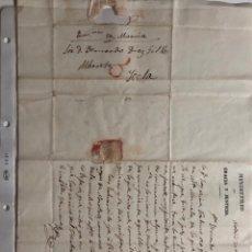 Timbres: CARTA MANUSCRITA DEL AÑO 1837. Lote 253325825