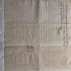 Timbres: CARTA MANUSCRITA DEL AÑO 1837. Lote 253326880