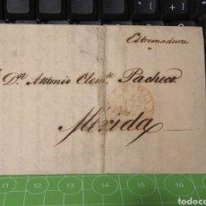 Sellos: PREFILATELIA SEVILLA- MERIDA. BADAJOZ 1849. Lote 255600855