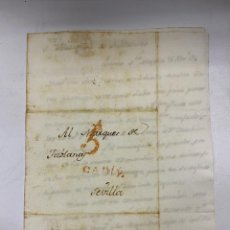 Sellos: 1790. CARTA DEL PUERTO SANTA MARIA A SEVILLA. MARQUÉS DE TABLANTES. VER. Lote 258842595