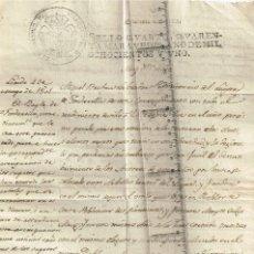 Sellos: 1801 TIMBRE SELLO QUARTO CUARENTA MARADEVIES CARTA MANUSCRITA DENUNCIA POR TALA ÁRBOLES. Lote 262435250