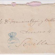 Sellos: CARTA DE MADRID A SEVILLA DEL 30 DE MARZO DE 1900. FRANQUEADO CON SELLO DEL CONGRESO. FECHADOR DE LL. Lote 262682585