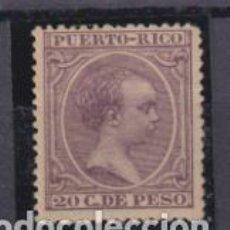 Sellos: PUERTO RICO 1891-1892. ALFONSO XIII. EDIFIL 98 *. Lote 262683325
