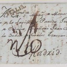 Francobolli: PREFILATELIA. CARTA ENTERA. GÉNOVA A MADRID. 1802. RARA MARCA ITALIA. Lote 264091860