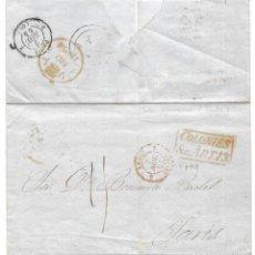 Sellos: 1854 LA HABANA (CUBA) A PARÍS. CARTA ENVUELTA PREFILATELIA OFICINA POSTAL BRITÁNICA. VÍA INGLATERRA. Lote 264259212