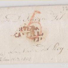 Selos: PREFILATELIA. LA SECA, VALLADOLID. 1845. MARCA DE RUEDA. A NAVA DEL REY. Lote 264265468