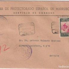 Sellos: CARTA CON MEMBRETE. ZONA DE PROTECTORADO ESPAÑOL EN MARRUECOS. CARTA DE TETUÁN A SEVILLA DEL 2 DE NO. Lote 267222449
