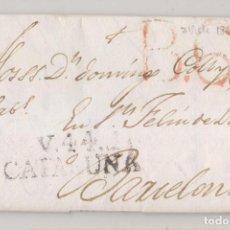 Timbres: PREFILATELIA. CARTA ENTERA. VIC, BARCELONA, A SANT FELIU DE LLOBREGAT. 1821. Lote 267346314