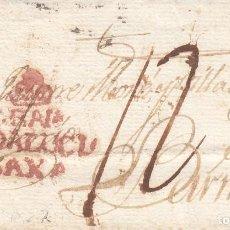 Timbres: PREFILATELIA FRAGMENTO DE GRANADA MARCA NUM. 8 (E) PORTEO 12 EN PLUMILLA. Lote 267349324