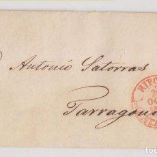 Timbres: PREFILATELIA. CARTA ENTERA. RIBAS DE FRESSER, GIRONA. 1851. MUY BONITO BAEZA DE RIPOLL. Lote 267371854