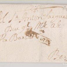 Timbres: PREFILATELIA. CARTA ENTERA. RIPOLL, GIRONA, A BERGA, BARCELONA. 1768. Lote 267373034