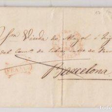Timbres: PREFILATELIA. CIRCULAR LIBRERÍA AYMAT. TARRAGONA. 1848. MARCA FRANCO. Lote 267382964