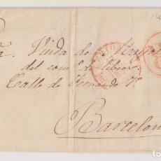 Timbres: PREFILATELIA. CARTA ENTERA. LLEIRA, LÉRIDA. 1845. A BERCELONA. IMPRENTA Y LIBRERÍA JOSÉ SOL. 1853. Lote 267485334