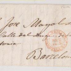 Timbres: PREFILATELIA. CARTA ENTERA. LLEIDA, LÉRIDA. 1845. A BARCELONA. IMPRENTA Y LIBRERÍA JOSÉ SOL. Lote 267487149