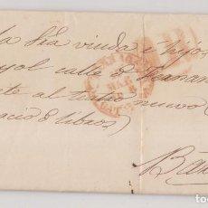 Timbres: PREFILATELIA. CARTA ENTERA. 1848. TARRAGONA A BARCELONA. IMPRENTA Y LIBRERÍA NEL-LO.. Lote 267489959