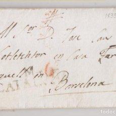 Timbres: PREFILATELIA. CARTA ENTERA. SALLENT A BARCELONA. 1833. MARCA DE MANRESA. Lote 267513489