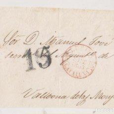 Timbres: PREFILATELIA. FRONTAL. LÉRIDA, LLEIDA. 1853. PORTEO RECTIFICADO A VALLBONA DE LES MONGES. Lote 267516579