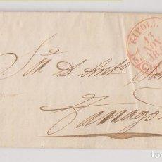 Timbres: PREFILATELIA. CARTA ENTERA. 1852. RIBAS DE FRESSNER, GIRONA. GERONA. 1852 MUY BONITO BAEZA DE RIPOLL. Lote 267518289