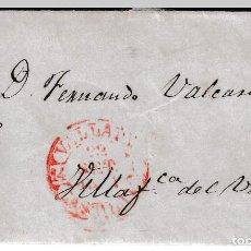 Sellos: 1851 CARTA PREFILATELICA VALLADOLID Nº 14 A VILLAFRANCA DEL VIERZO PROCURADOR FELIX PADILLA. Lote 267658494