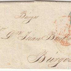 Sellos: 1847 CARTA PREFILATELICA CADIZ Nº 26 A BURGOS Nº 7 PORTEO 1 RS EN AZUL FAMILIA BARBADILLO. Lote 267666349