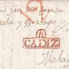 Sellos: PREFILATELIA DE ARCOS DE LA FRONTERA (CADIZ) MARCA NUM 1 ROJA DESTINO MALAGA. Lote 267903529