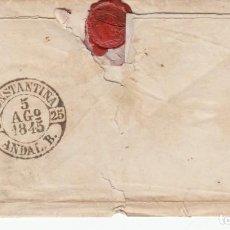 Selos: PREFILATELIA ENVUELTA DE MADRID POR CAZALLA A CONSTANTINA MARCA NUM. 3 NEGRO (RRR) 1845. Lote 267906594