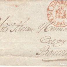 Sellos: PREFILATELIA ENVUELTA DE MOTRIL MARCA NUM. 4 -1845- A BARCELONA. Lote 268860659