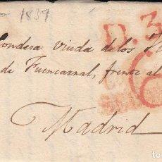 Sellos: PREFILATELIA DE SEGOVIA (MARCA NUM. 8 (RR) DESTINO MADRID --1839--DIRIGIDA A CONDESA VDA.VILLARES. Lote 268861934