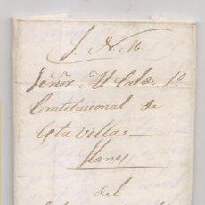 Francobolli: PREFILATELIA. CARTA SERVICIO NACIONAL MILITAR. 1845. CABO CARABINEROS A ALCALDE DE LLANES ASTURIAS. Lote 268985219