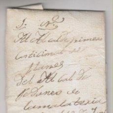Francobolli: PREFILATELIA. CARTA ENTERA DEL SERVICIO NACIONAL 1844. ALCALDE DE LA MALATERÍA AL DE LLANES ASTURIAS. Lote 268986664