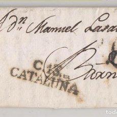 Selos: PREFILATELIA. CARTA ENTERA. MONFALCÓ. RIBAGORZA. HUESCA. 1806. MARCA CERVERA, LLEIDA.. Lote 268994079