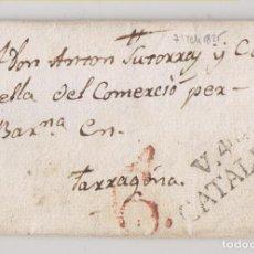 Selos: PREFILATELIA. CARTA ENTERA. MANLLEU, BARCELONA. 1825. MARCA DE VIC. A TARRAGONA. Lote 269003519