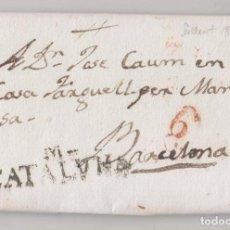 Timbres: PREFILATELIA. CARTA ENTERA. SALLENT DE LLOGREGAT A BARCELONA. 1832. MARCA DE MANRESA. Lote 269004624