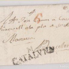 Timbres: PREFILATELIA. CARTA ENTERA. SALLENT DE LLOBREGAT A BARCELONA. 1832. MARCA DE MANRESA. Lote 269006899