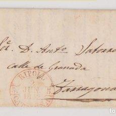 Selos: PREFILATELIA. CARTA ENTERA. RIBAS DE FRESER, GIRONA. 1852. BAEZA RIPOLL. Lote 269008114