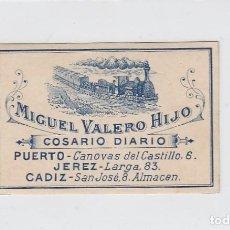 Sellos: PUERTO SANTA MARIA-JEREZ-CÁDIZ. COSARIO DIARIO. VIÑETA PARA PAQUETERÍA ( ENCOLADA-ENGOMADA ).. Lote 269130783