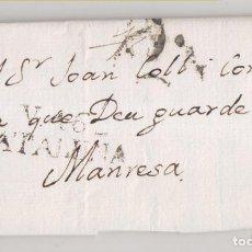 Timbres: PREFILATELIA. CARTA ENTERA. VILANOVA I LA GELTRÚ. 1811. BARCELONA A SANT FELIU DE GUIXOLS, GIRONA. Lote 269491573