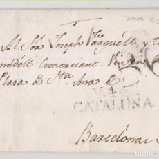 Timbres: PREFILATELIA. CARTA ENTERA. SANT FELIU DE PALLEROLS, GIRONA. 1815. MARCA DE VIC, BARCELONA. Lote 269492648