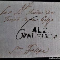 Sellos: PREFILATELIA ALCIRA ALZIRA VALENCIA EVUELTA MARCA A TINTA DE ESCRIBIR PORTEO MANUSCRITO 6. Lote 269646573