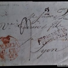 Sellos: PREFILATELIA VALENCIA DEL CID A LYON 1836 ESPAGNE PAR PERPIGNAN PORTEOS MANUSCRITOS Y ESTAMPADOS. Lote 269646788
